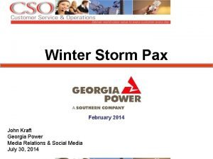 Winter Storm Pax February 2014 John Kraft Georgia