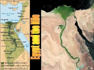 Farming in the Nile floodplain The Nile floodplain