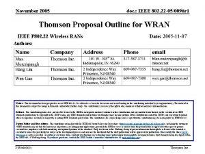 November 2005 doc IEEE 802 22 050096 r
