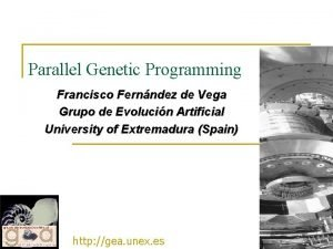 Parallel Genetic Programming Francisco Fernndez de Vega Grupo
