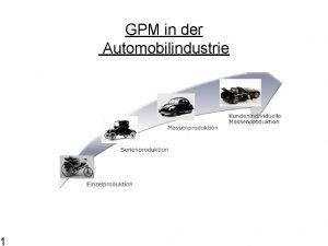 1 GPM in der Automobilindustrie Geschftsprozessmanagement Wi Se