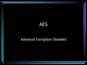 AES Advanced Encryption Standard Origins of AES In