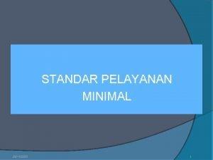 STANDAR PELAYANAN MINIMAL 28112020 1 Pendidikan sebagai sistem