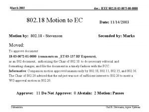 March 2003 doc IEEE 802 18 03 0075