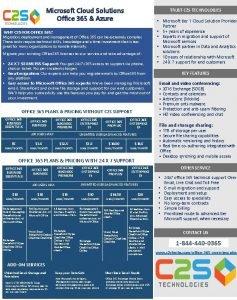 Microsoft Cloud Solutions Office 365 Azure TRUST C