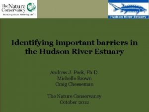 Identifying important barriers in the Hudson River Estuary