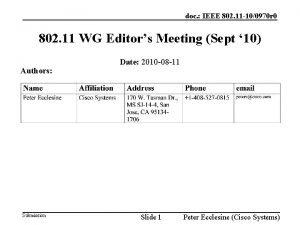 doc IEEE 802 11 100970 r 0 802