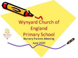 Wynyard Church of England Primary School Nursery Parents