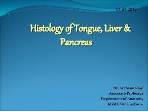01 07 2015 Histology of Tongue Liver Pancreas