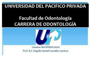 UNIVERSIDAD DEL PACIFICO PRIVADA Facultad de Odontologa CARRERA