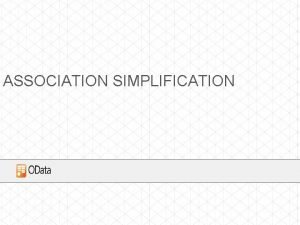 ASSOCIATION SIMPLIFICATION ISSUES WITH ASSOCIATIONS Defining Associations and