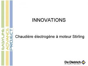 INNOVATIONS Chaudire lectrogne moteur Stirling Chaudire lectrogne moteur