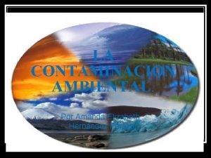 LA CONTAMINACION AMBIENTAL Por Amanda Elizabeth Hernndez Peraza