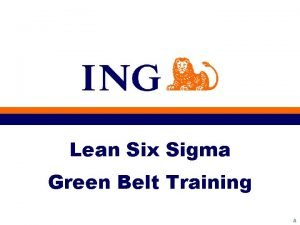 Lean Six Sigma Green Belt Training A Workshop