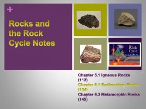 Three types of Rocks 1 Igneous 2 Sedimentary