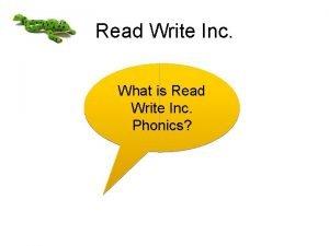 Read Write Inc What is Read Write Inc