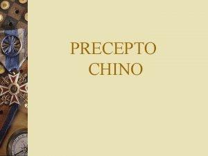 PRECEPTO CHINO SOBRE EL DINERO EL DINERO PUEDE