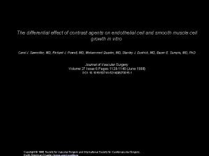 The differential effect of contrast agents on endothelial