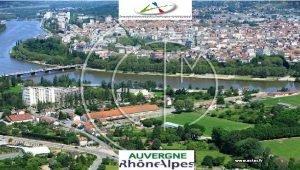 Nivre Cher Carte de la rgion AuvergneRhneAlpes Sane