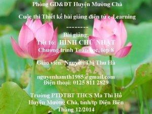 Phng GDT Huyn Mng Ch Cuc thi Thit