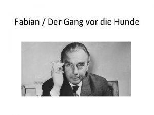 Fabian Der Gang vor die Hunde Biografie Emil
