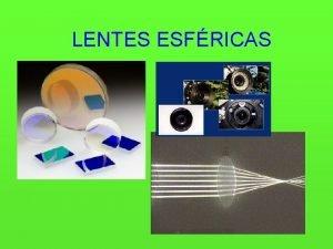 LENTES ESFRICAS PERFIS DE LENTE COMPORTAMENTO PTICO COMPORTAMENTO