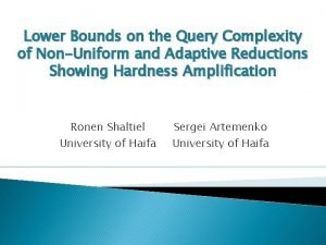 Lower Bounds on the Query Complexity of NonUniform
