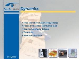 Dynamics Free vibration Eigen frequencies Forced vibration Harmonic