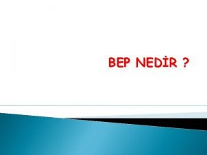 BEP NEDR Bireyselletirilmi Eitim Programlar zel Eitim Hizmetleri