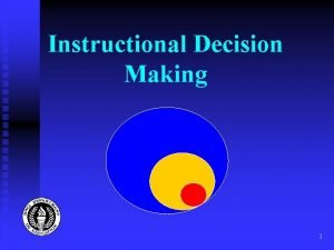 Instructional Decision Making 1 Instructional Decision Making in