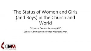 The Status of Women and Girls and Boys