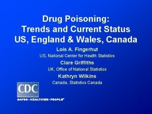 Drug Poisoning Trends and Current Status US England