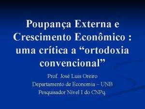 Poupana Externa e Crescimento Econmico uma crtica a