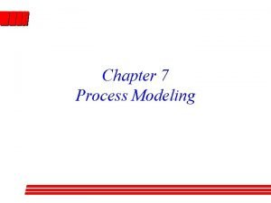 Chapter 7 Process Modeling Agenda Process modeling mechanics