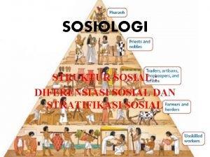 SOSIOLOGI STRUKTUR SOSIAL DIFERENSIASI SOSIAL DAN STRATIFIKASI SOSIAL