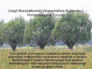 Urzd Marszakowski Wojewdztwa Kujawsko Pomorskiego w Toruniu Cykl