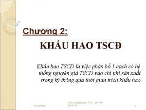 Chng 2 KHU HAO TSC Khu hao TSC