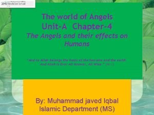 The world of Angels UnitA Chapter4 The Angels