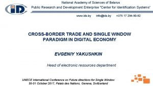 National Academy of Sciences of Belarus Public Research