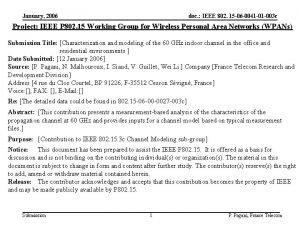 January 2006 doc IEEE 802 15 06 0041