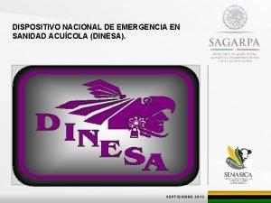 DISPOSITIVO NACIONAL DE EMERGENCIA EN SANIDAD ACUCOLA DINESA