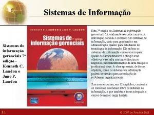 Sistemas de Informao Sistemas de informao gerenciais 7