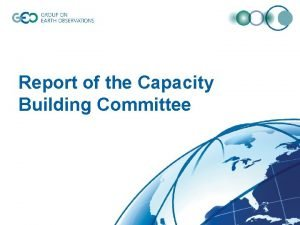 Report of the Capacity Building Committee Capacity Building