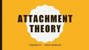 ATTACHMENT THEORY THEORIST JOHN BOWLBY ATTACHMENT THEORY MORE