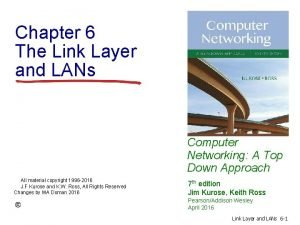 Chapter 6 The Link Layer and LANs Computer