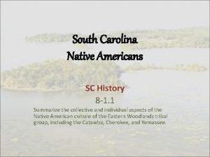South Carolina Native Americans SC History 8 1