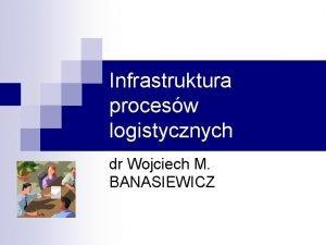 Infrastruktura procesw logistycznych dr Wojciech M BANASIEWICZ Infrastruktura
