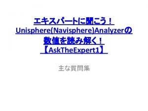 FAST VPUnisphere Analyzer Unisphere AnalyzerSlice 1 DiskExtreme Performance