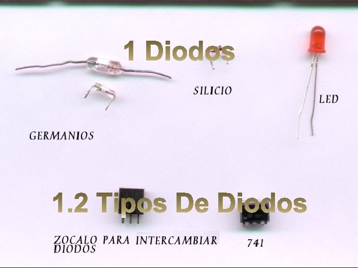 DIODO DETECTOR O DE BAJA SEAL Los diodos