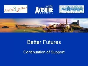 Better Futures Continuation of Support Continuation of Support